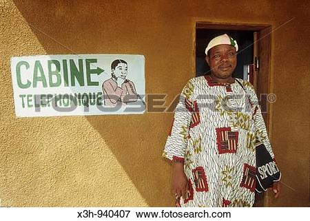 Picture of phone box,Benin,Golfe de Guinee,Afrique de l?ouest,Gulf.