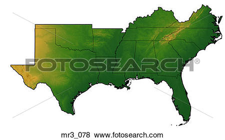 Pictures of fl, florida, gulf of mexico, map, relief mr3_078.