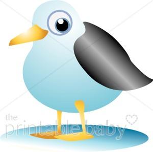 Plump Seagull Clipart.