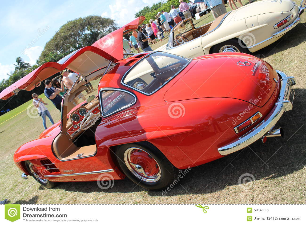Classic Mercedes Sports Car And Cabin Editorial Stock Image.
