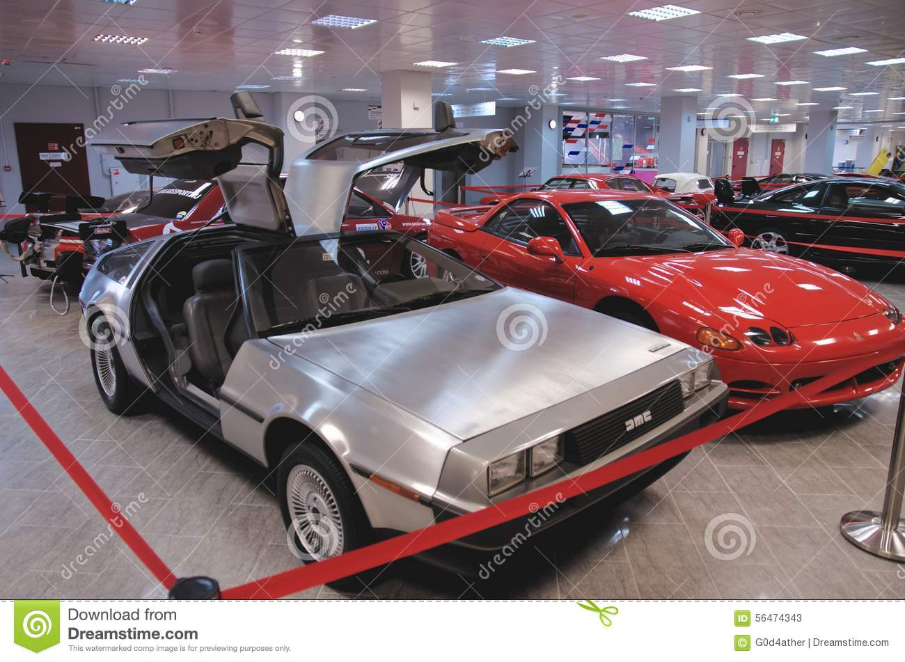 A DeLorean DMC.
