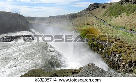 Stock Photo of Gullfoss k33235714.