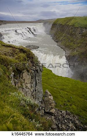 Stock Photo of Gullfoss waterfall, Iceland k16445764.