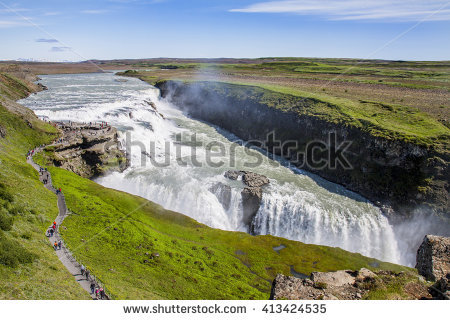 Iceland Gullfoss Stock Photos, Royalty.