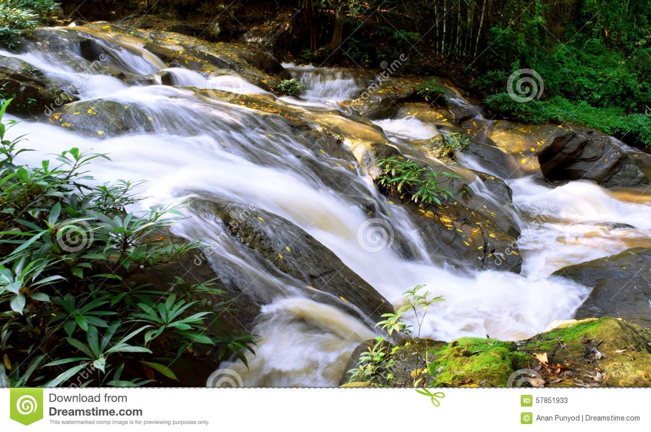 Waterfall Gully Stock Photo.