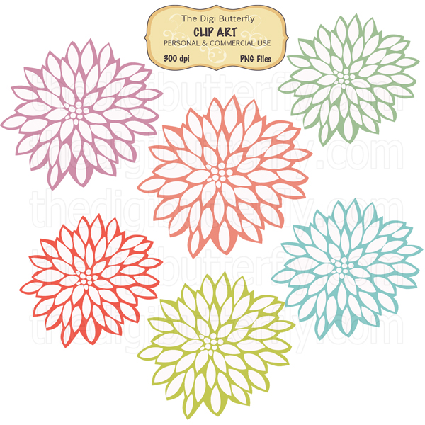 Flower Burst Clipart.