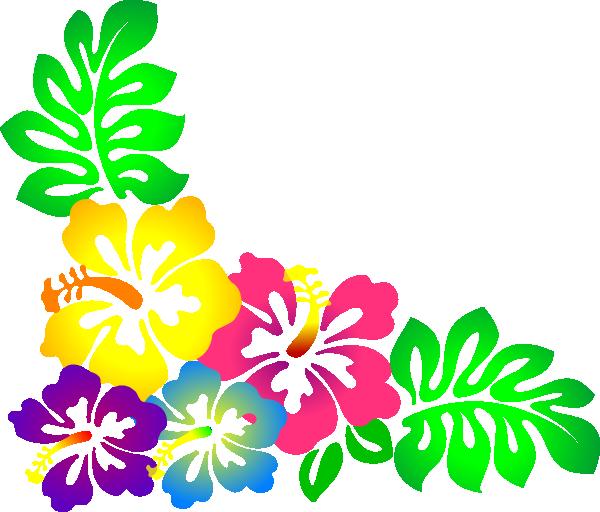 Clip Art Luau Flowers Clipart.