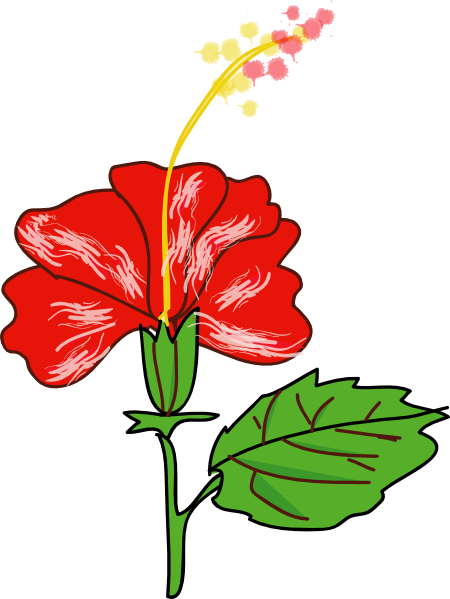 Flower Hibiscus Clip Art at Clker.com.
