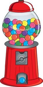 Gumball Machine Clipart Image.
