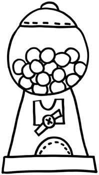 Gumball Machine Clip Art FREEBIE.