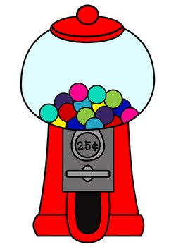 Gumball Machine and Gumball Clipart.