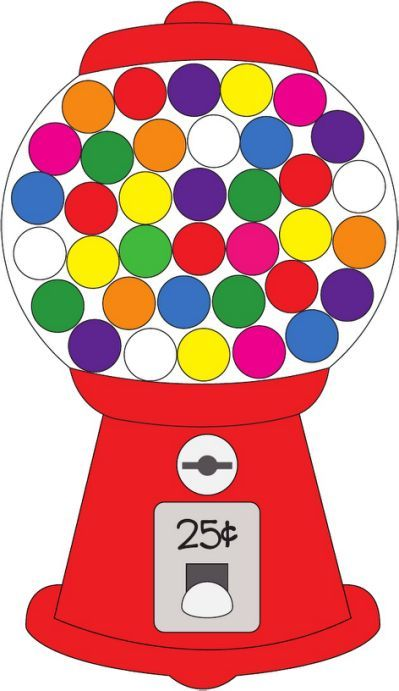 Gumball clipart candy machine.