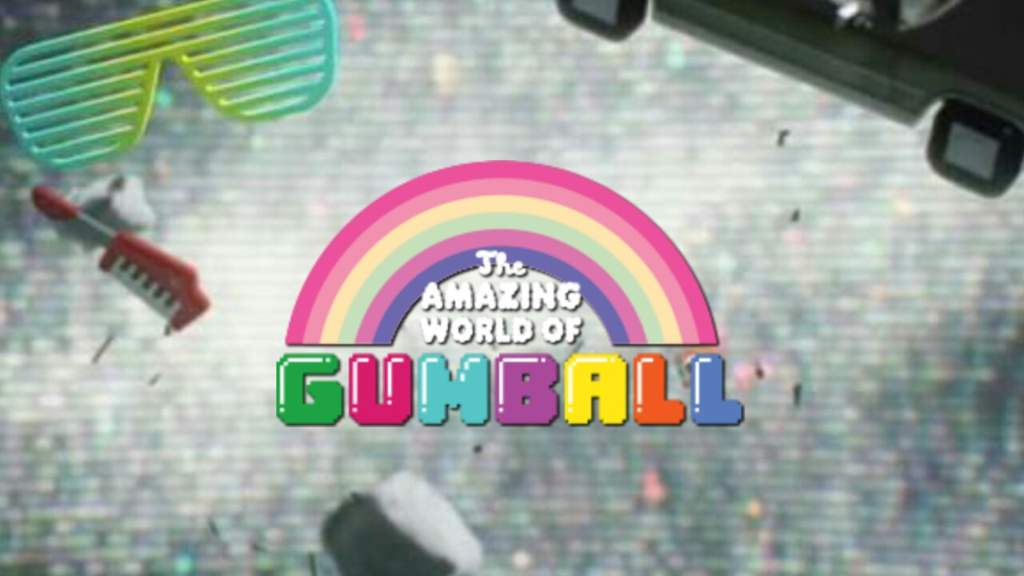 The Amazing World of Gumball logo in the void.
