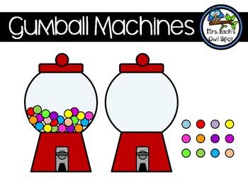 Gumball Machines Clipart.