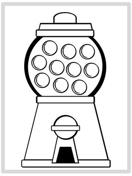 Gumball Machine Coloring Pages FREEBIE!.