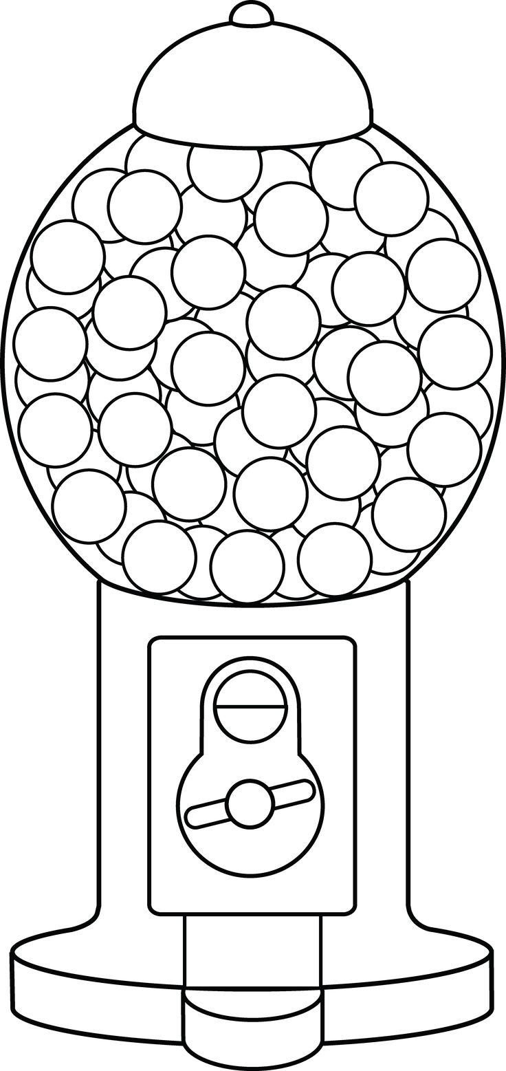 gumball machine. gumball clip art colorful gumballs empty.