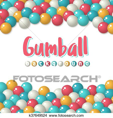Gumball candies holiday background Clipart.