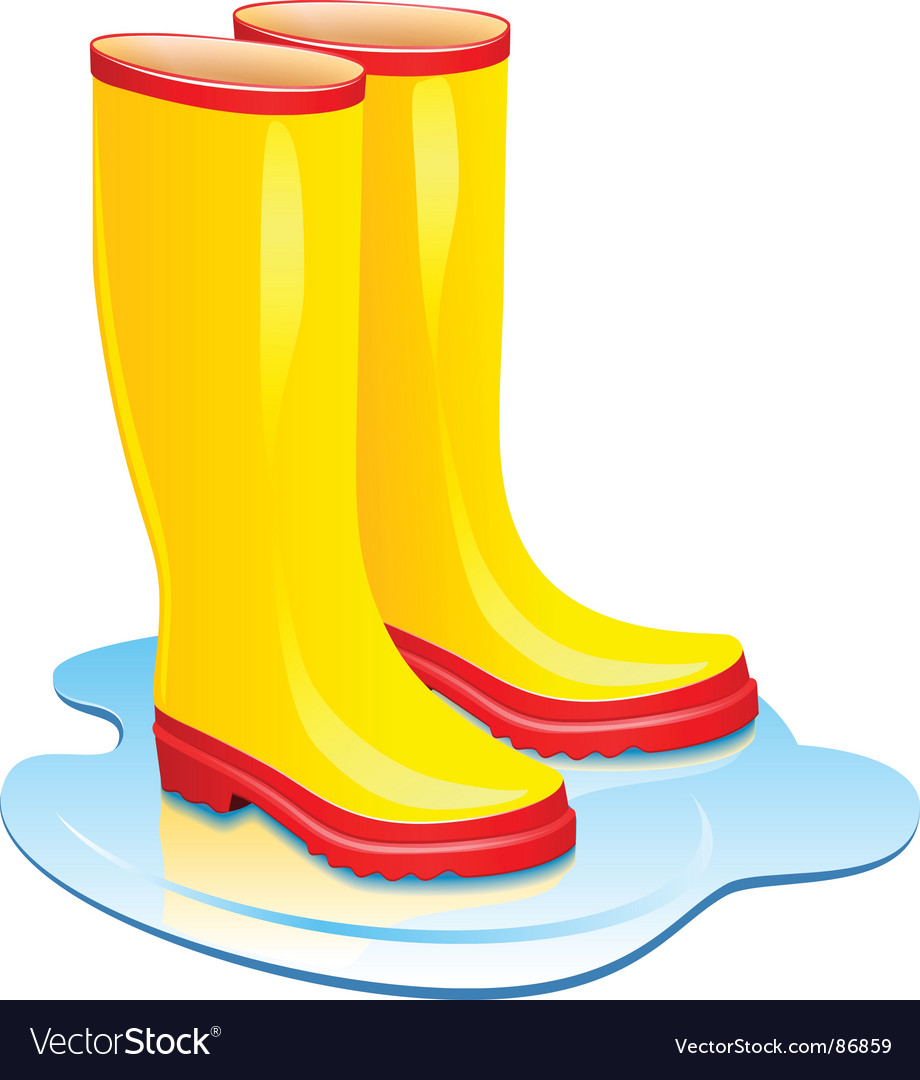 Rubber boots.
