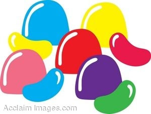 Clip Art of Gumdrops and Jellybeans.