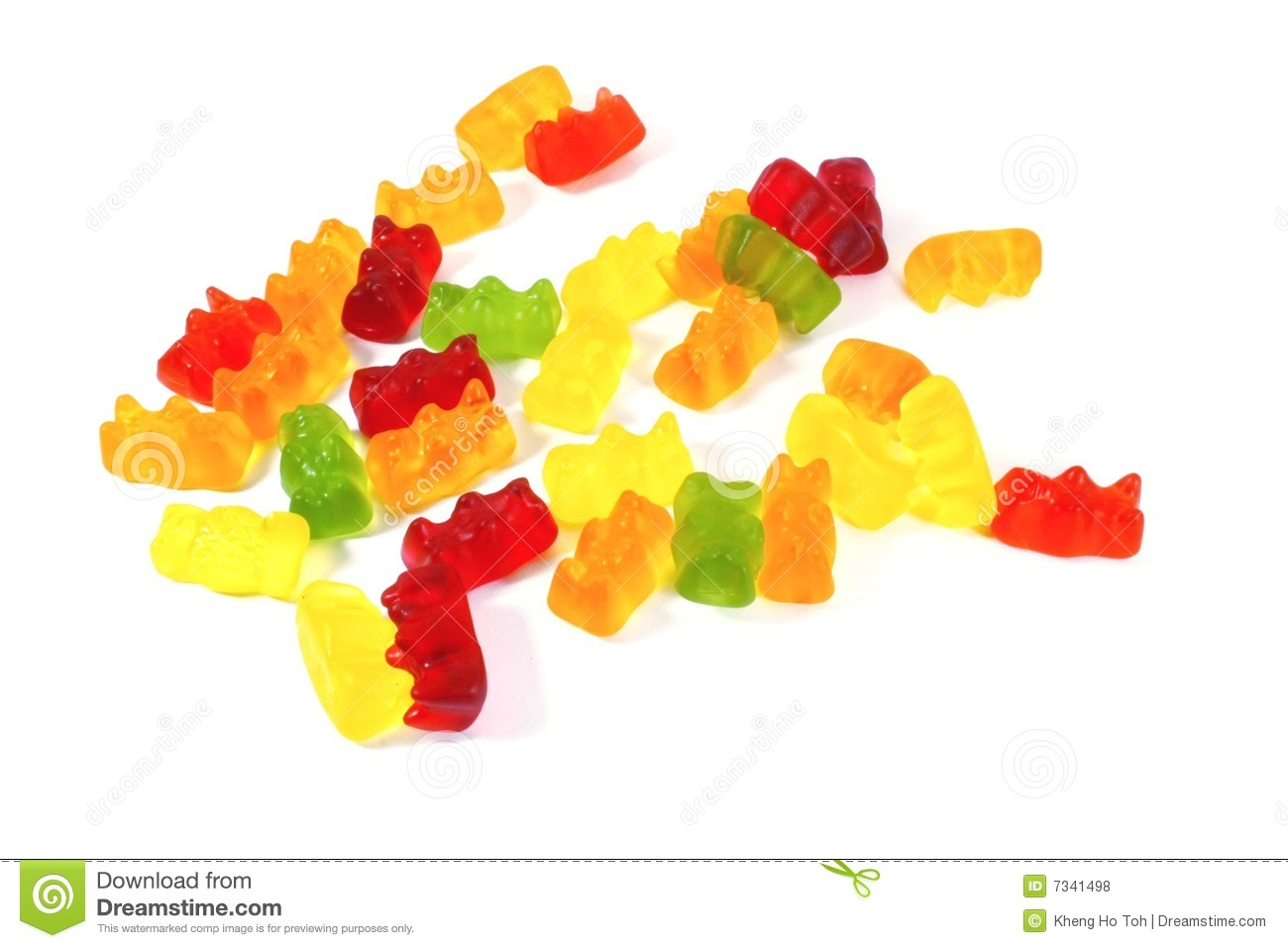 Gummy Bear Production Clipart.