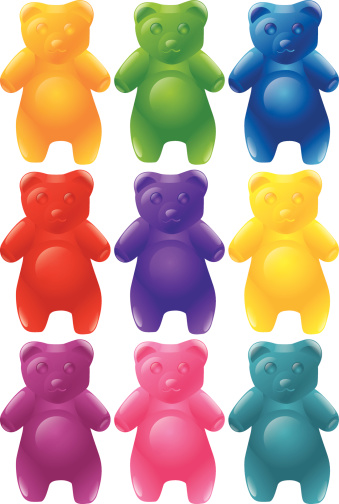 Gummy Bears Clip Art, Vector Images & Illustrations.