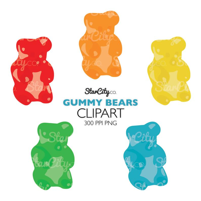 Gummy Bear clipart, Candy Clip Art, Food Clipart, Candy clip art, Gummy  graphics, Bear Gummy clipart, Commercial Use, instant download.
