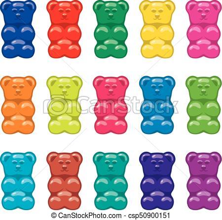 vector gummy bear candies.