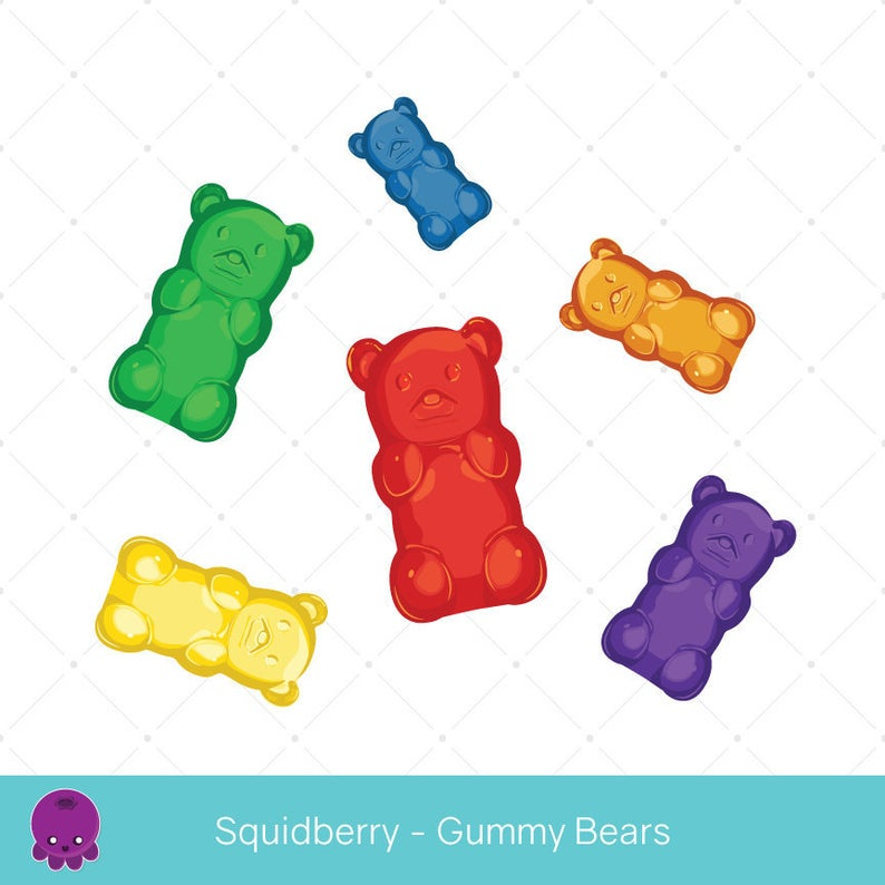Gummy Bears, Clip Art, Candy Scrapbook, Kid's Party, Realistic  Illustration, Gummy Sweets, Candy Party, Collage Crafts, Fruit Gummies.
