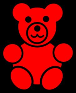 Red Bear Clip Art.