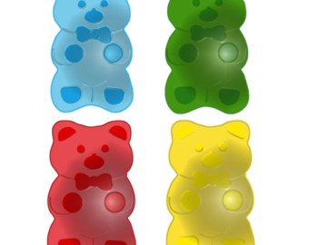 Gummy Bear Bite Clipart.