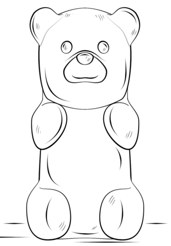 Gummy Bear coloring page.