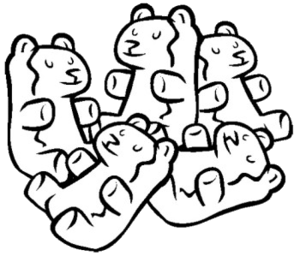 Gummy Bear Clip Art Black And White Graphics Illustrations Png.