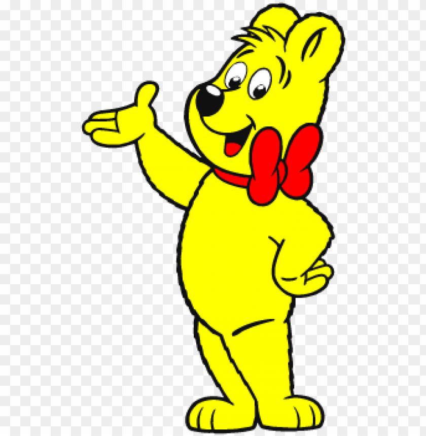 haribo bear vector logo.