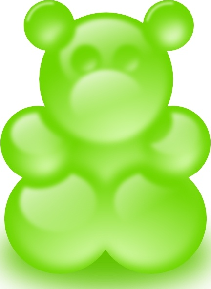 Gummy Bear Sort Of clip art Free vector in Open office drawing svg.