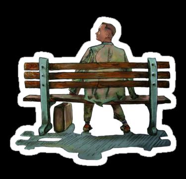 "Forrest gump"" Stickers by rebelshop."
