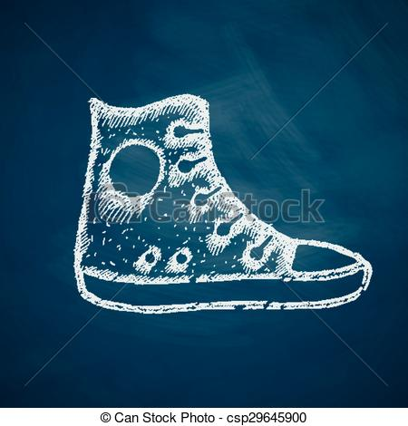 Vector Clipart of gumshoes icon csp29645900.
