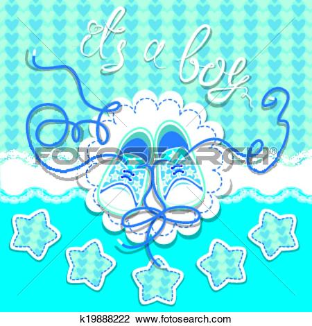Clipart of Holiday Dard children gumshoes on blue background.