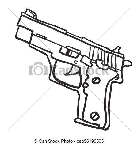 simple black and white gun.