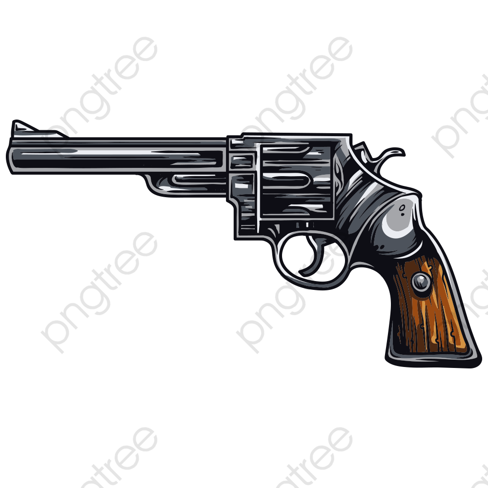 Pistol, Cartoon Pistol, Firearms PNG Transparent Image and Clipart.