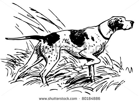 Hunting Dog Clipart.