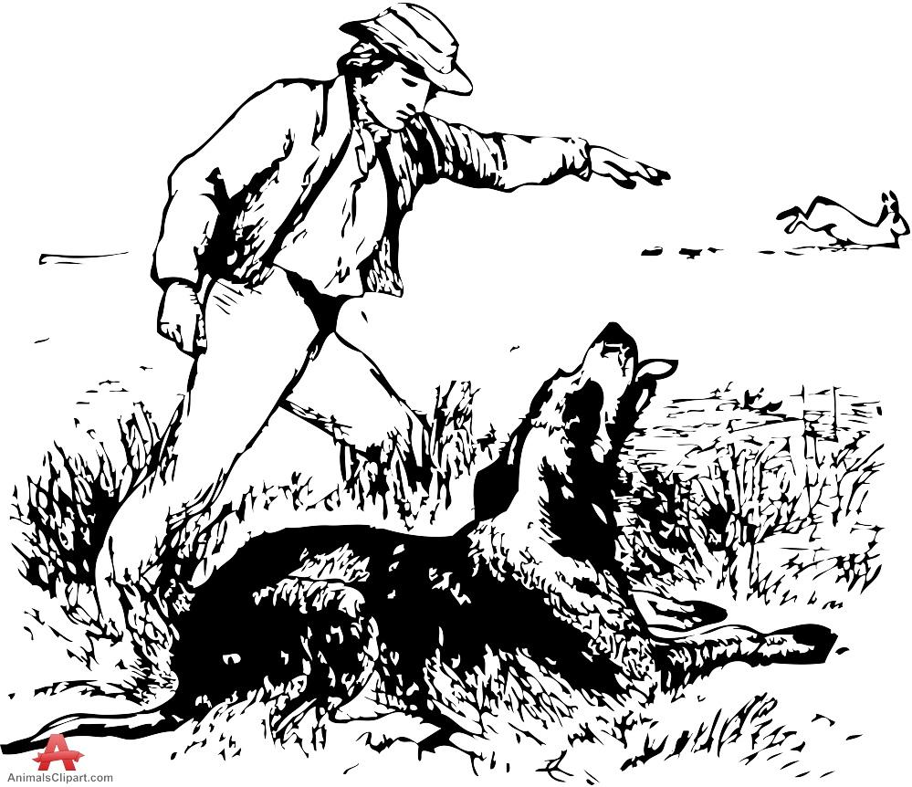 Man and Hunting Dog.
