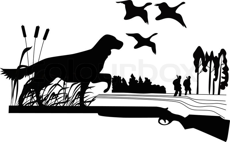 Duck Hunting Dog Clip Art.