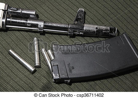 Stock Photography of Kalashnikov assault rifle, AK.