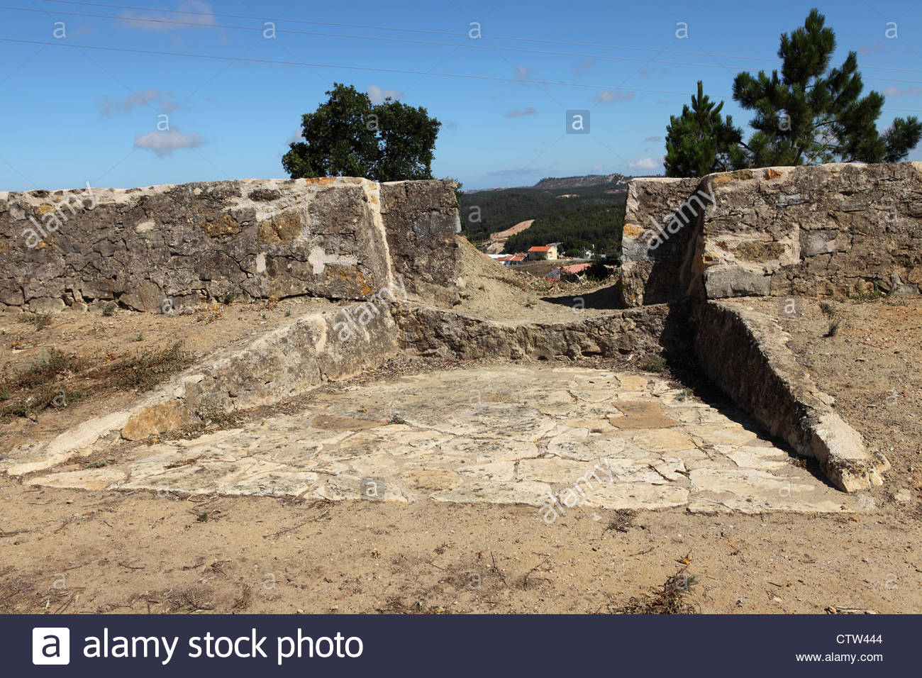 Gun Embrasure At Forte De Sao Vicente On The Line Of Torres Vedras.