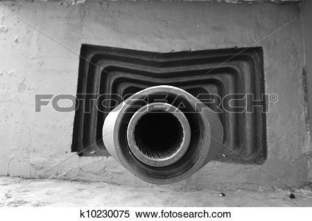 Stock Image of Embrasure of military bunker k10230075.