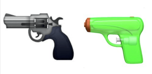 Gun owners are ticked off at the new gun emojis.
