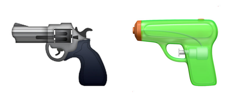 Apple Emojis Replace Pistol Emoji With Water Gun : The Two.