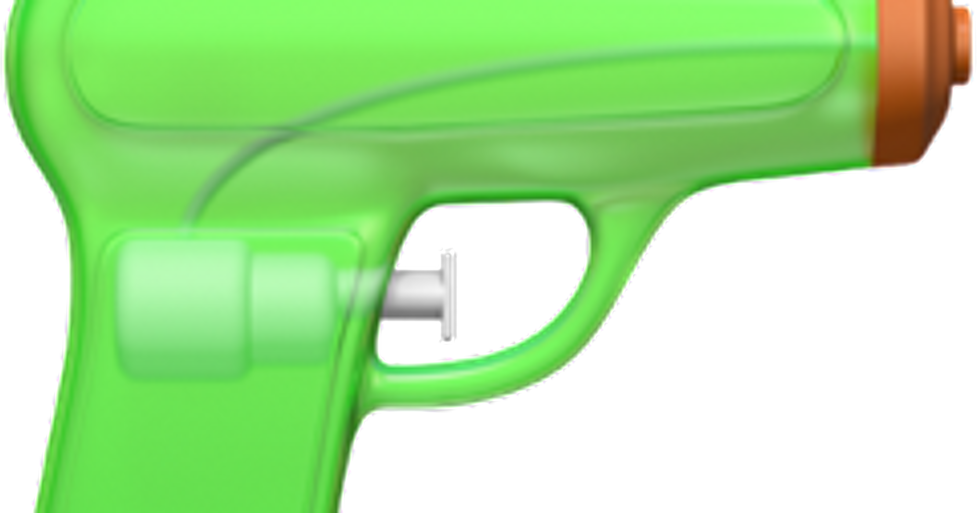 Apple replaces pistol emoji with a lime green squirt gun.