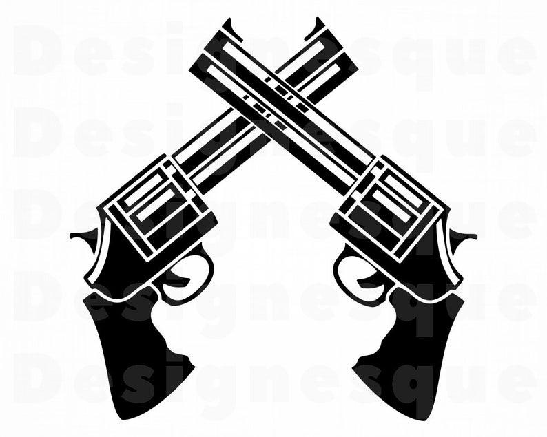 Gun Logo Svg, Revolver SVG, Gun SVG, Pistol SVG, Weapon Svg, Revolver  Clipart, Gun Files for Cricut, Cut Files For Silhouette, Dxf, Png, Eps.