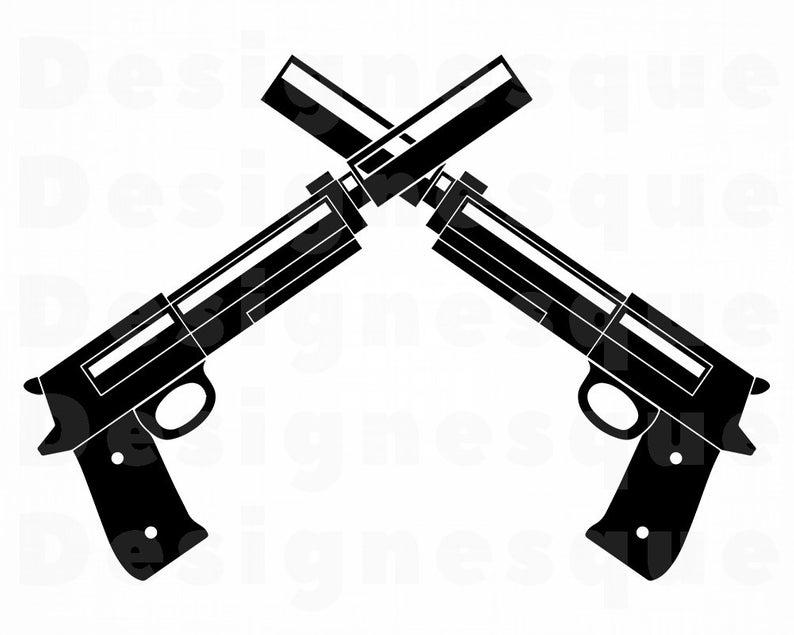 Gun Logo #6 Svg, Revolver SVG, Gun SVG, Pistol SVG, Weapon Svg, Revolver  Clipart, Gun Files for Cricut, Cut Files For Silhouette, Dxf, Png.